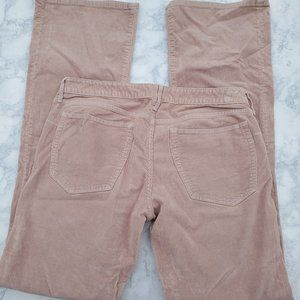 Earnest Sewn Pants 31 Pink Corduroy Low Rise Flare